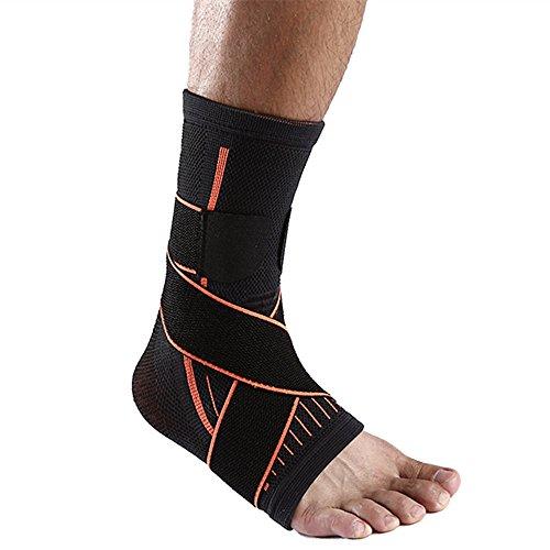 SOFIT Fußgelenk-Bandage Mit Klettverschluss, Sprunggelenkbandage Fußgelenkstütze Fußbandage Knöchel-Stützhülse Für Knöchelverstauchung Und Gelenkschmerzen, Kompressionssocken Für Männer Und Frauen