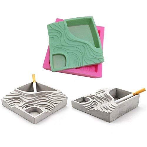 gereton Silikon Form Sukkulente Blumentopf Gips Zement Fleischig Blume Bonsai DIY Aschenbecher Giessform Kerzenhalter (Formenbau-material)