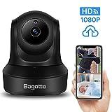 Caméra Surveillance WiFi,Bagotte 1080P Caméra IP WiFi, Caméra WiFi avec Détection de Mouvement ,Haut Parleur et Vision Nocturne pour Maison/Bébé/Animaux de Compagnie