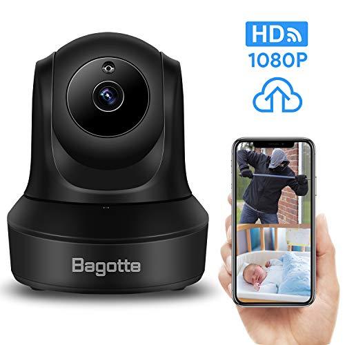 Caméra Surveillance WiFi,Bagotte 1080P Caméra IP WiFi, Caméra WiFi avec  Détection de Mouvement ,Haut Parleur et Vision Nocturne pour