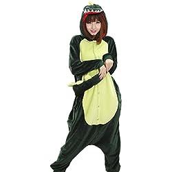 Mescara Pijama de pijamas de Kigurumi, unisex, forro polar para adultos, diseño de Halloween