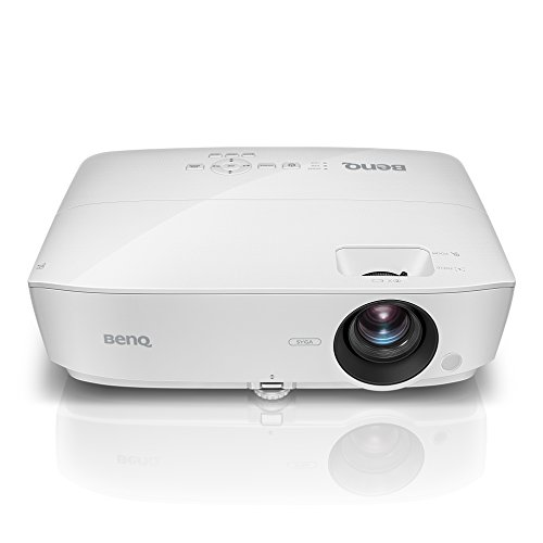 BenQ MS535 DLP-Business Projektor (mit 3.600 ANSI Lumen, SVGA, 800 x 600 Pixel, Kontrast 15.000:1, 1,2:1 Zoom, Smart Eco) weiß F1.2 Digital Video