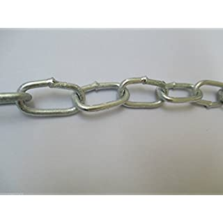 Ironmongery World Eisenwarenhandlung Welt Außen Außen Verwendung Heiß Dip Galvanisiert Geschweißte Kette - 3MM X 21MM X 10M
