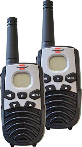Brennenstuhl PMR Walkie Talkie TRX 3500 Funkgeräte Set (mit 5km Reichweite, mit 2 Mobilgeräten, 8 Kanälen und LCD-Display) schwarz