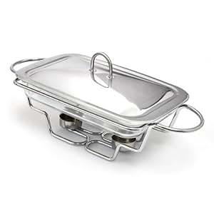Chauffe plat en verre plat four avec couvercle en inox for Plat cuisine inox