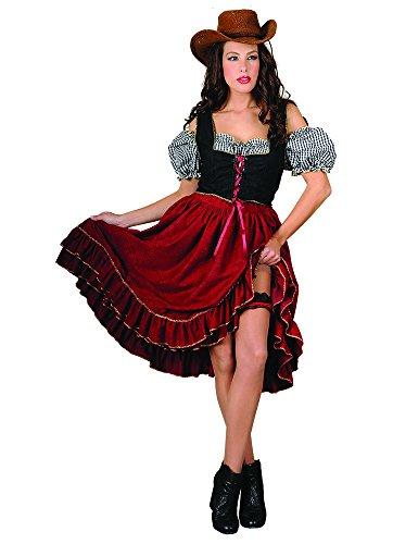 Stamco, Cowgirl Wilder Westen Kostüm Damen (Dakota Kostüme)
