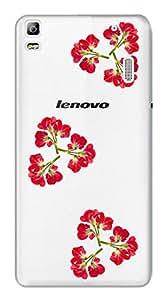 WOW Transparent Printed Back Cover Case For Lenovo A7000