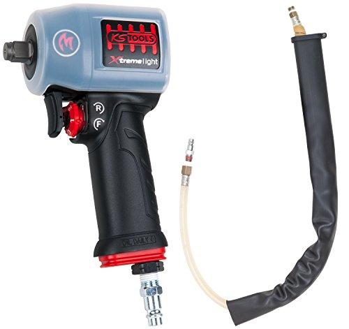 """KS Tools 515.1155 1/2"""" miniMONSTER Xtremelight rückenschonender Hochleistungs-Druckluft-Schlagschrauber 1.390 Nm mit Schutzhülle und Geräusch-Reduzier-Schlauch, AGR Zertifiziert"""