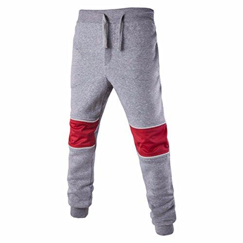 Men's Casual Harem Cotton Trousers Lightgrey