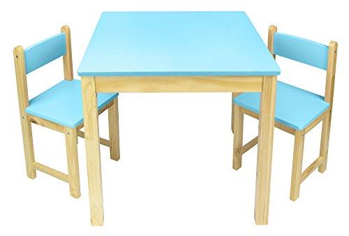 Leomark tavolo in legno due sedie set tavolino sgabelli tavolo per