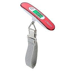 E-PRANCE Balanza Ergon?®Mica LCD B?¢scula/B?¢scula Pesca Digital 50g/50Kg 0.1lb/110lb para Maletas Equipaje de Viaje B?¢scula