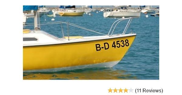2x Bootsname Amtliche Kennzeichnung oder Name mehrfarbig 10 cm hoch