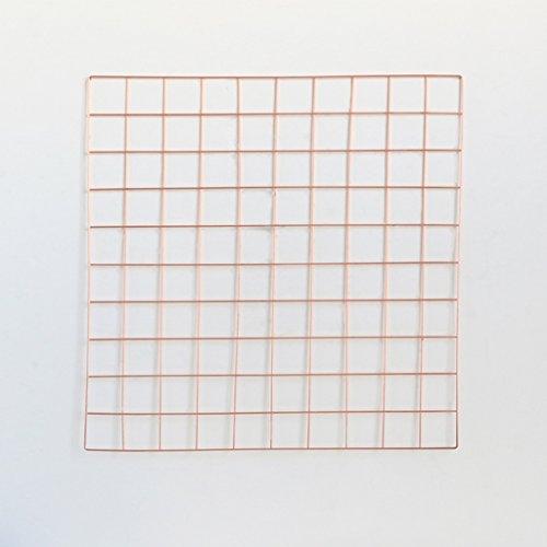DIY Grid Foto Wand, Stacheldraht Foto Wall / Wall Art Ausstellung und Finishing, (58 * 58 cm, Rotgold) ( Size : Grid photo wall )