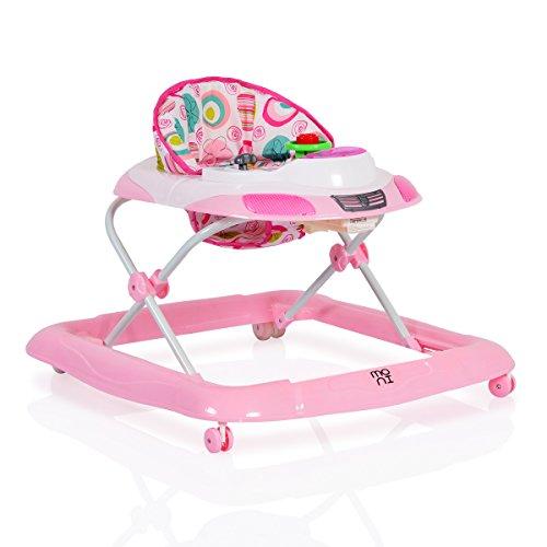 Lauflernhilfe Marty in Form eines Autos, höhenverstellbar mit Spielcenter (Rosa) Rosa Kleinkind-wagen