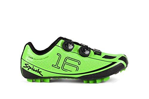 Spiuk 16 Route Carbone - Chaussures, Mixte Vert / noir