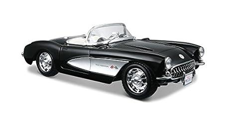 Maisto - 31275bk - Véhicule Miniature - Modèle À L'échelle - Chevrolet Corvette 1957 - Echelle