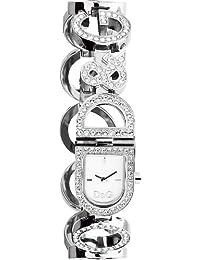 5df4c68f5bf3 Dolce   Gabbana D G - Reloj analógico de cuarzo para mujer con correa de acero  inoxidable
