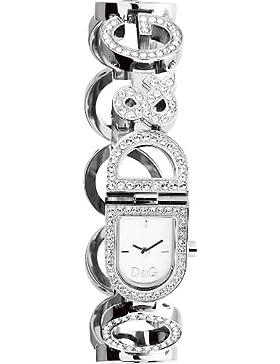 Dolce & Gabbana Damen-Armbanduhr Analog Quarz Silber DW0129