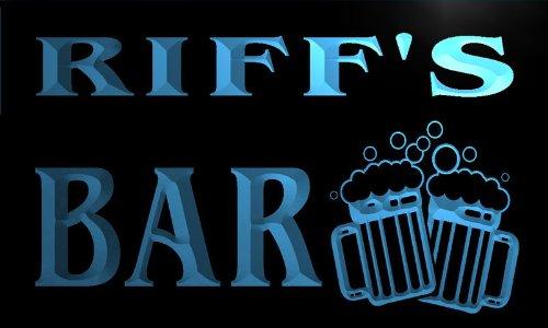 w047710-b RIFF Name Home Bar Pub Beer Mugs Cheers Neon Light Sign Barlicht Neonlicht Lichtwerbung Riff-cocktail