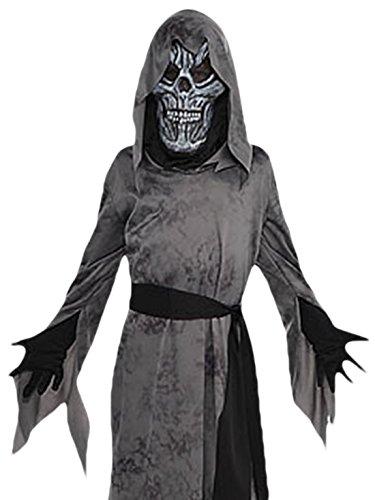 Kostüm Ekel Make Up (erdbeerloft - Jungen Karneval Halloween Kostüm Ghastly Ghoul, Schwarz, Größe 128-140, 8-10)