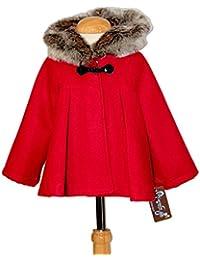 Ricittos - Capa Abrigo con Mangas de niña en Color Rojo