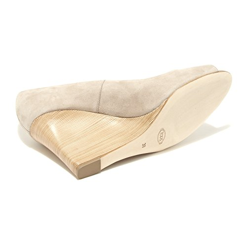 55664 decollete spuntato TOD'S ZEPPA RD scarpa donna shoes women Beige