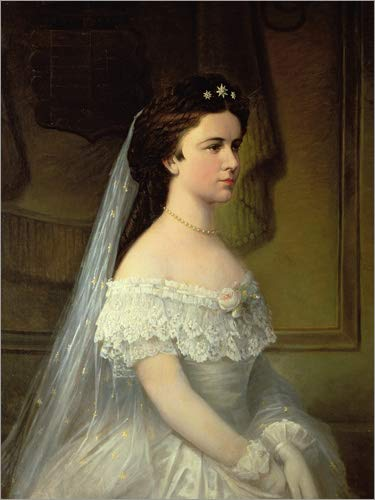 Posterlounge Acrylglasbild 60 x 80 cm: Elisabeth von Bayern von Austrian School/Bridgeman Images -...
