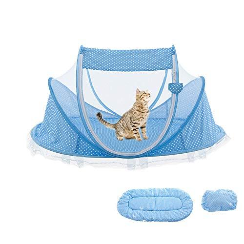 Hanrydong camera di consegna per animali domestici, tappetino, gabbia per gatti portatile cani, cortile sicuro, coperta, auto, viaggio, tenda divertente, casa senza stress