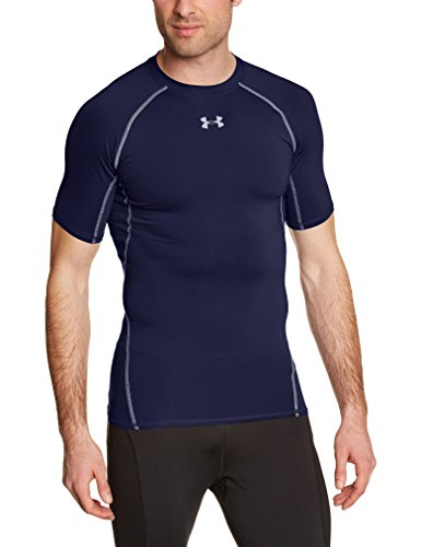 Under Armour UA Hg SS T-Shirt con Maniche Corte Uomo - Blu (Midnight Navy) - M