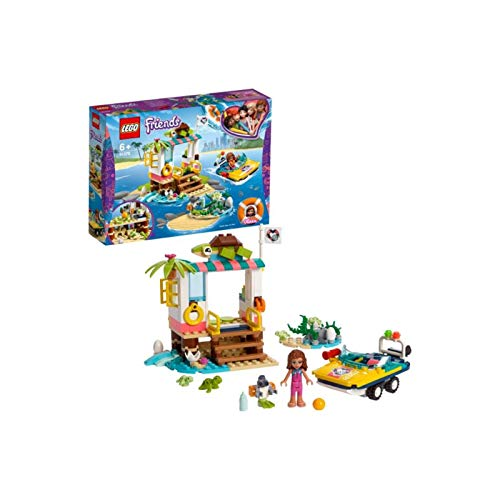 LEGO 41376 Friends Turtles Rescue Mission Boat Playset with Olivia Mini Doll, Zobo the Robot and 4 Baby Turtles Best Price and Cheapest