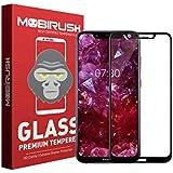 Mobirush Nokia 8.1 Edge to Edge ||Full Gum ||Full Glue ||Gorilla Tempered Glass Guard for Nokia 8.1 - Black