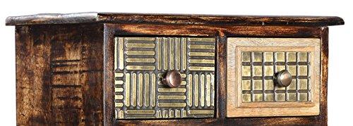 The Wood Times Kommode Schrank Massiv Vintage Look Kalkutta Mangoholz, FSC Zertifiziert, BxHxT 50x110x35 cm - 2