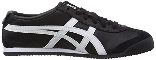 Onistuka Tiger Mexico 66, Chaussures de trail mixte adulte Noir (9001-Black/White)