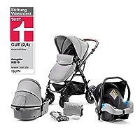 Kinderkraft Moov 3en1 - Silla de paseo de beb