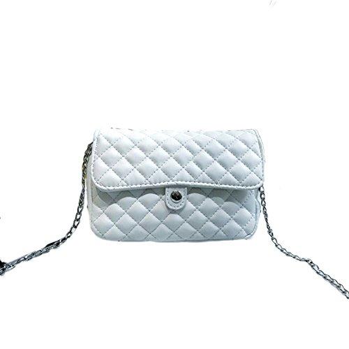 Damen Handtasche Mit Verstellbarem Schulterriemen Zum Umhängen Schultertasche Umhängetasche Weiß