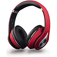 August EP640 Bluetooth v4.0 NFC Kopfhörer - Wireless Stereo Headset mit Freisprechfunktion, integriertem Mikrofon, 3,5mm Audio Eingang und Akku - mit Lederohrpolster - Kompatibel mit Handys, iPhone, iPad, Laptops, Tablets, Smartphones etc.