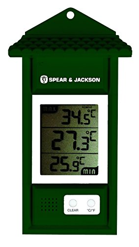 Spear & Jackson 53106 Min-/Max-Thermometer Digital grün