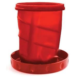 Flatterware 772011 Flatterware Bowl-Plate - Red