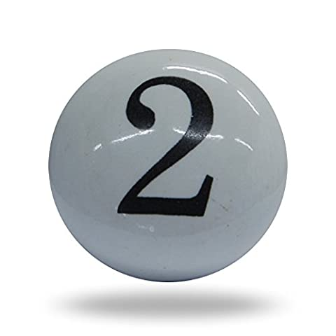 Ceramic Number Two 2 Cupboard Cabinet Numeric Door knob Drawer Pull & Handle