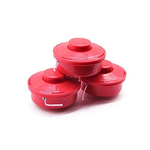 OUKANING Spule mit doppelter Schnur Automatik Starter Zubehör trimmen Nylon-Linie Faden Nylon Spule für Rasentrimmer Benzin * 3