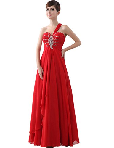 Sarahbridal Damen Lang Chiffon Abendkleider Bandeau Paillette ...