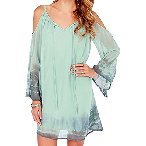 Tie Dye Chiffon Cold Off The Shoulder Con Spalle Scoperte