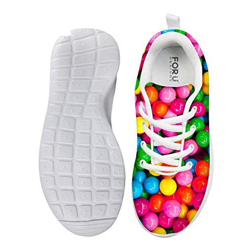 Lolyze Komfortabel Kinder Sportschuhe Mädchen Sneaker Hallenschuhe Laufschuhe Outdoor Für Unisex-Kindern Bunte Süßigkeiten Süßigkeiten EU 30
