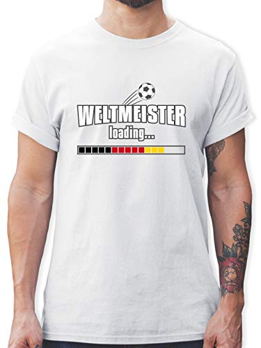Fußball-Europameisterschaft 2020 - Weltmeister Loading Deutschland WM - 3XL - Weiß - L190 - Tshirt Herren und Männer T-Shirts