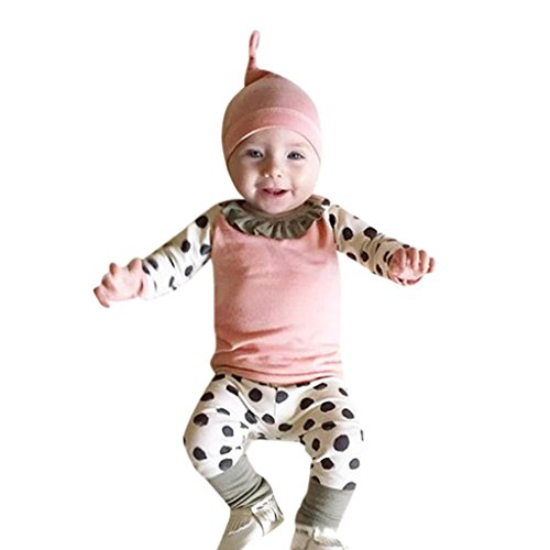 Neugeborene Kleidung Babykleidung Kleinkind Kleinkind Baby Junge Mädchen Kleider Set Kapuzenpullover Tops + Hosen Outfits Weich Baby Strampler Mädchen Beiläufig Blumen (9-12Monat, Rosa 3)