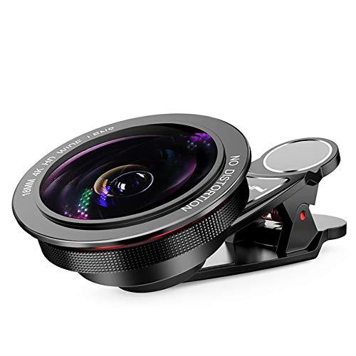BESTSUGER Telefon Kamera Lens, 4K Hd 0.6X Wide-Angle Lens, Professional SLR Self-Timer Distortion-Free Universal Mobile Phone Lens -