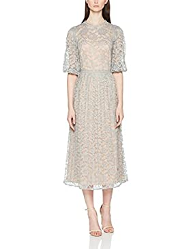Little Mistress Waterlily Lace Contrast Dress with Pleats, Vestido de Fiesta para Mujer