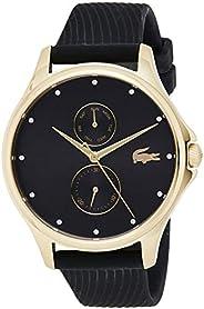 ساعة يد كوارتز للنساء من لاكوست - عرض كرونوغراف وسوار من السيليكون 2001052