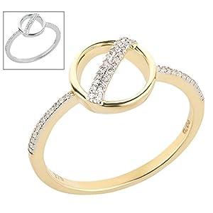 Ardeo Aurum Damenring 375 Gold 0,06 ct Diamant