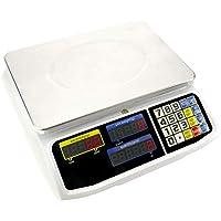 PrimeMatik - Balanza mostrador de sobremesa con Bandeja de 300x205 mm Báscula de Tienda de 30